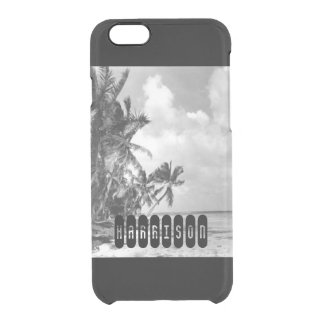 Vintage Palm Trees Clear iPhone 6/6S Case