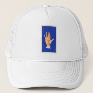 Vintage Palmistry Hand, The Time Line Trucker Hat