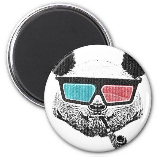 Vintage panda 3-D glasses Fridge Magnet