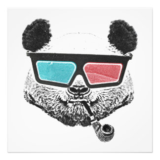 Vintage panda 3-D glasses Photograph