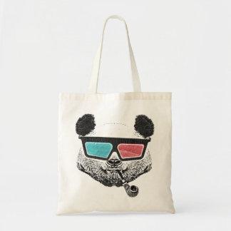 Vintage panda 3D glasses Bags