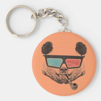Vintage panda 3D glasses Key Chains