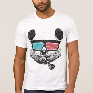 Vintage panda 3D glasses T-Shirt
