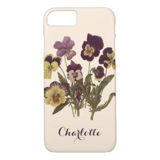 Vintage Pansies in Bloom, Floral Garden Flowers iPhone 7 Case
