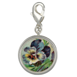 Vintage Pansy Charm