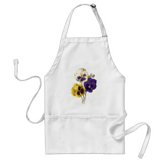 Vintage Pansy Flowers Standard Apron