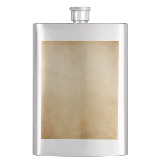 Vintage Paper Antique Gold Parchment Background Hip Flask