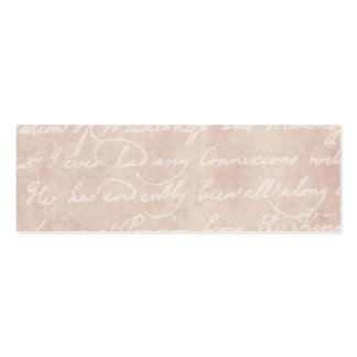 Vintage Paper Antique Script Writing Parchment Pack Of Skinny Business Cards