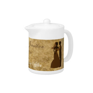 Vintage paper Bride Groom Wedding Once upon a time