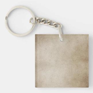Vintage Paper Brown Antique Parchment Background Key Ring