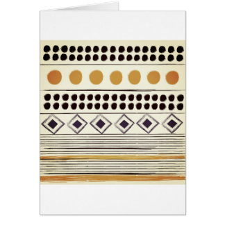 Vintage paper greeting with Aztec folk pattern Card