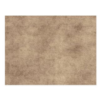 Vintage Paper Parchment Paper Template Blank Postcard