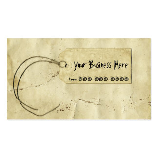 Vintage Paper Price Tag Business Card