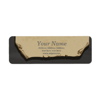 vintage paper  return address stickers return address label