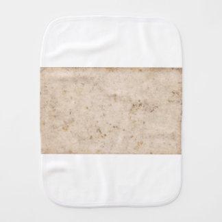 Vintage paper texture bugged burp cloth