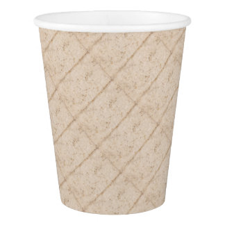Vintage paper texture bugged paper cup