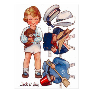 Vintage Paperdoll Little Boy Jack Postcard