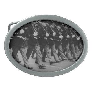 Vintage Parade Soldiers Oval Belt Buckle