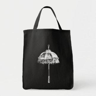 Vintage Parasol Grocery Tote Bag