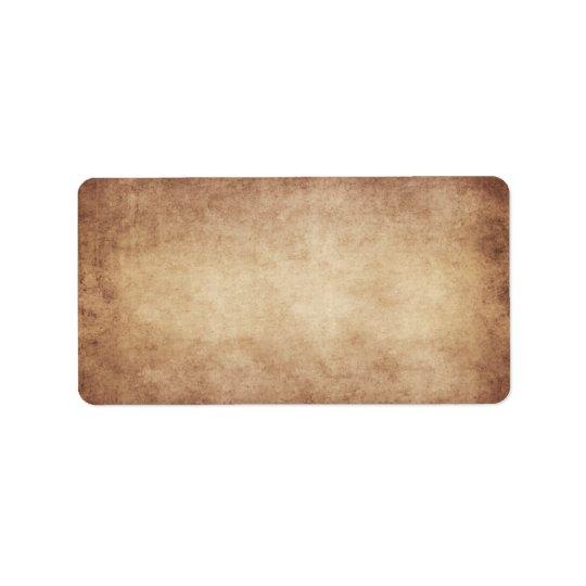 Vintage Parchment Antique Paper Background Custom Label