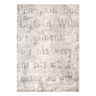 Vintage Parchment Antique Text Template Blank Pack Of Chubby Business Cards
