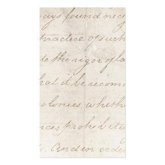 Vintage Parchment Antique TextTemplate Pack Of Standard Business Cards