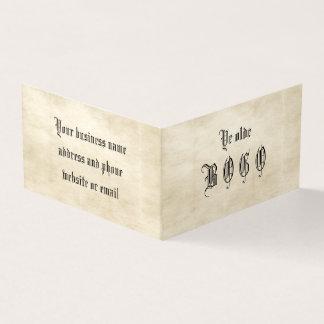 Vintage Parchment BOGO Loyalty Folded Card
