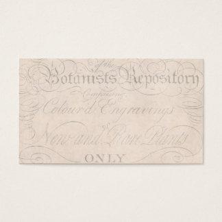 Vintage Parchment Botanical Script 1700s Template Business Card