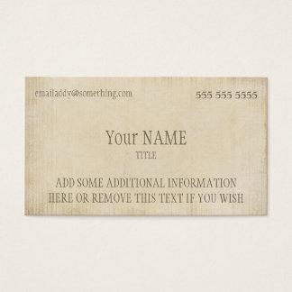 Vintage Parchment Business Card