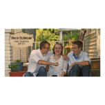 Vintage Parchment Country Photo Christmas Card Personalized Photo Card