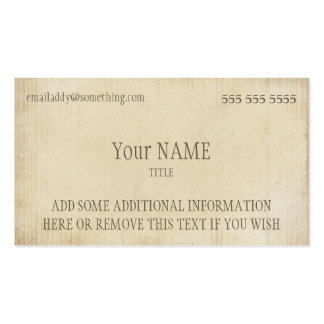 Vintage Parchment Pack Of Standard Business Cards