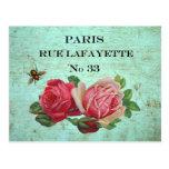 Vintage Paris Address Postcards