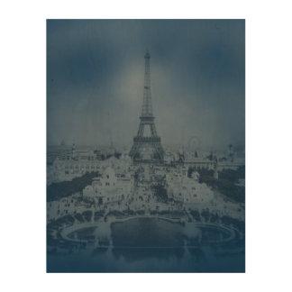 Vintage Paris and Eiffel Tower Wood Prints