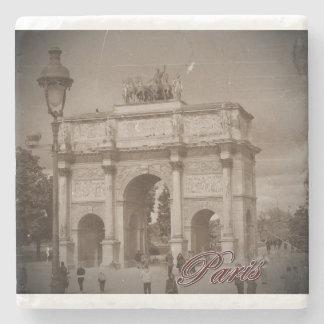 Vintage Paris: Arc de Triomphe Stone Coaster