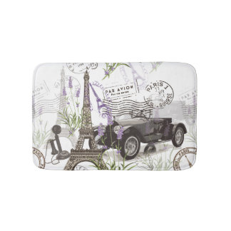 Vintage Paris Bath Mat