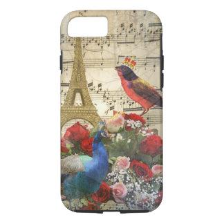 Vintage Paris & birds music sheet collage iPhone 8/7 Case
