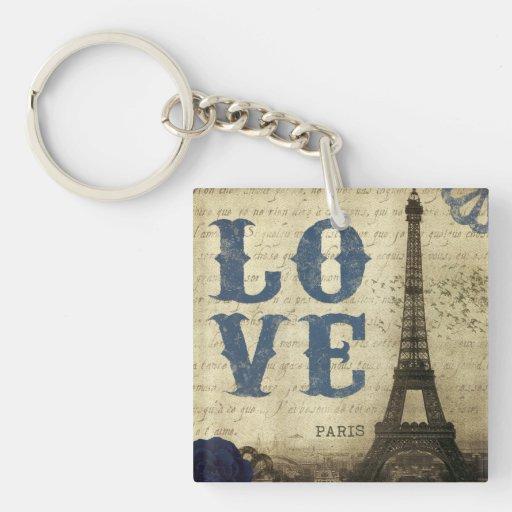 Vintage Paris | Blue Acrylic Keychain
