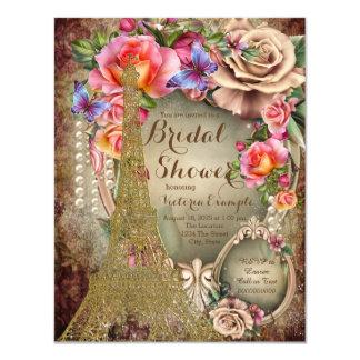 Vintage Paris Bridal Shower Card