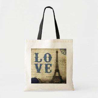 Vintage Paris Budget Tote Bag