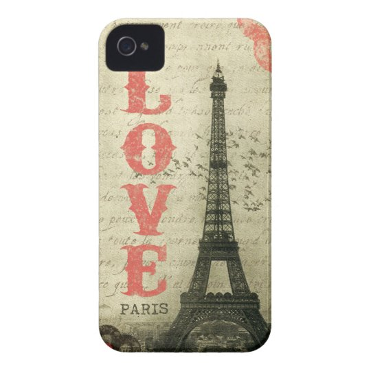Vintage Paris Case-Mate iPhone 4 Case
