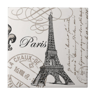 Vintage Paris...ceramic tile