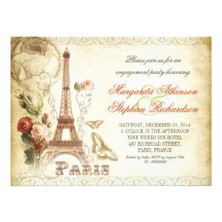 vintage PARIS chic engagement party invitations