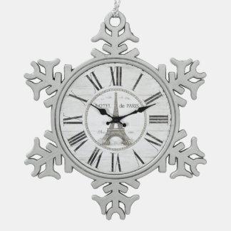 vintage paris clock ornament