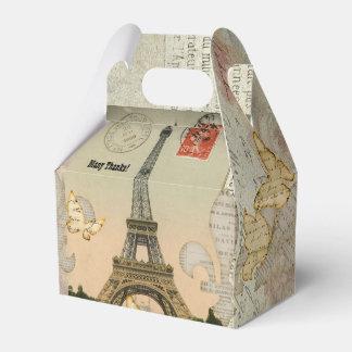 Vintage Paris Collage Eiffel Tower Personalized Favour Box
