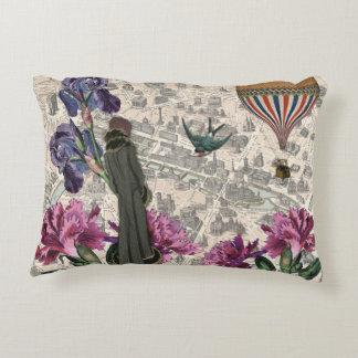 Vintage Paris Collage Pillow