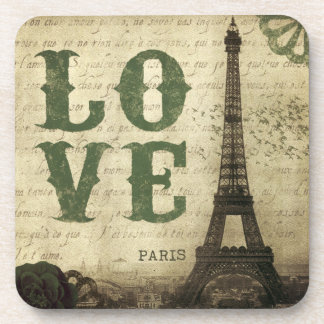 Vintage Paris Beverage Coasters