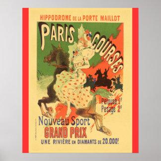 Vintage Paris Courses, Hippodrome de Porte Maillot Poster
