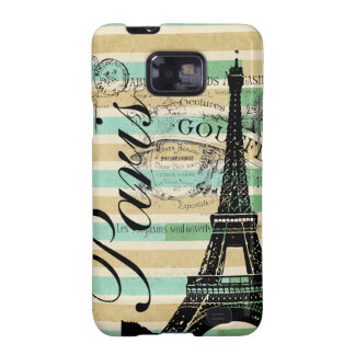 Vintage Paris & Eiffel Tower Blackberry Bold Samsung Galaxy S2 Covers
