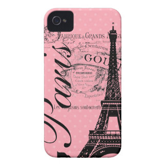 Vintage Paris & Eiffel Tower Blackberry Bold iPhone 4 Case-Mate Case