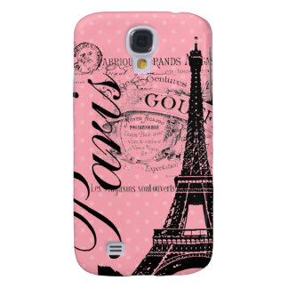Vintage Paris & Eiffel Tower Blackberry Bold Samsung Galaxy S4 Cases